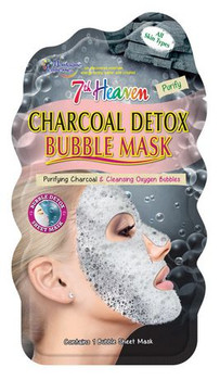 7th Heaven Charcoal Detox Bubble Mask for All Skin Types | 1 Bubble Sheet Mask