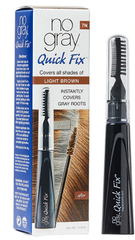 No Gray Quick Fix for Covering Gray Roots | 7N Light Brown