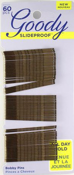 Goody Bobby Pins - Matches Brunette Hair | 60 pcs