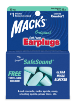 Mack's Original SafeSound Soft Foam Earplugs | 10 Pairs