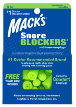 Mack's Snore Blockers Soft Foam Earplugs | 12 Pairs