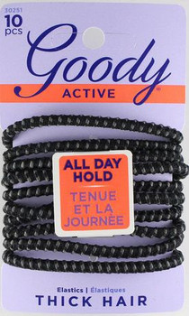 Goody Active Secure All Day Hold Elastics | 10 pcs