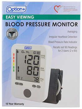 Option+ Easy Viewing Blood Pressure Monitor
