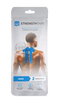 StrengthTape Back & Neck Kinesiology Tape | 6 Pre Cut Strips
