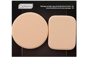 Option+ Latex Foundation & Cream Sponges   2 Count