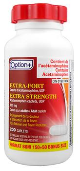Option+ Extra Strength Acetaminophen Caplets - 500 mg   200 Caplets