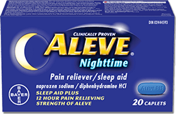 Aleve Nighttime Pain Reliever with Sleep Aid   20 Caplets