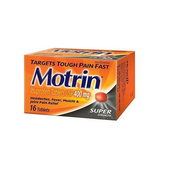 Motrin Super Strength Ibuprofen Tablets - 400 mg   16 Tablets