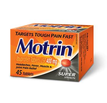 Motrin Super Strength Ibuprofen Tablets - 400 mg   45 Tablets