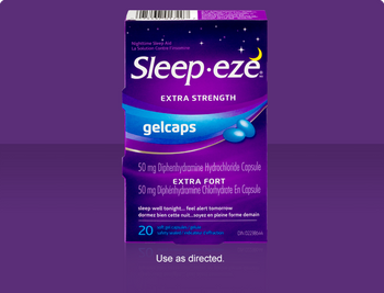 Sleep Eze Extra Strength Gel Caps | 20 Soft Gel Capsules