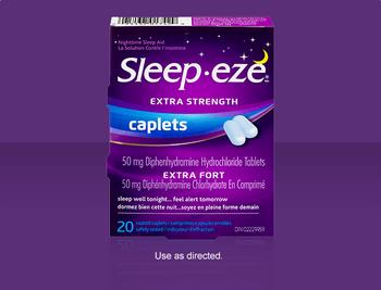 Sleep Eze Extra Strength Caplets | 20 Coated Caplets