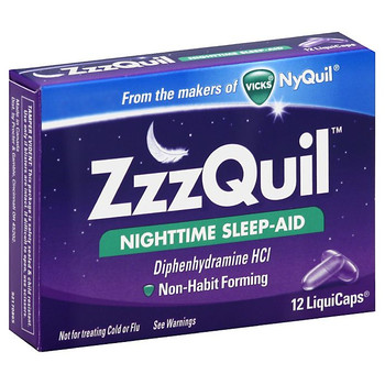 Vicks ZzzQuil Nighttime Sleep-Aid LiquiCaps | 12 Liquid Capsules