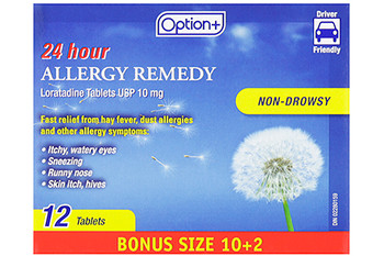 Option+ 24 Hour Allergy Remedy | 12 Tablets