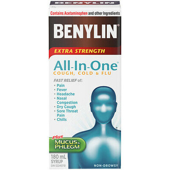 Benylin Extra Strength All-In-One Cough, Cold & Flu | 180 ml
