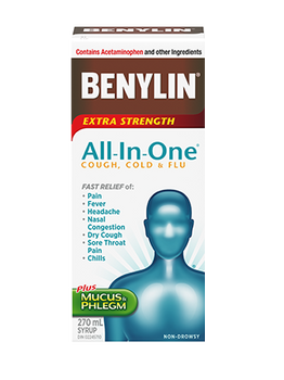 Benylin Extra Strength All-In-One Cough, Cold & Flu | 270 ml