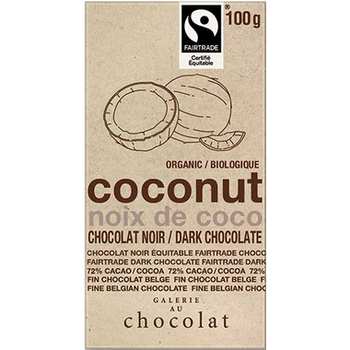Galerie Au Chocolat Coconut 72% Dark Chocolate Bar | 100 g