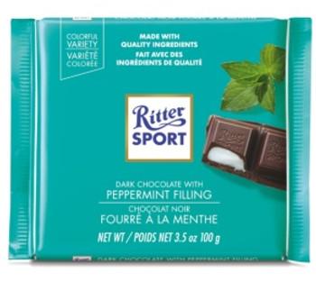 Ritter Sport Dark Chocolate Bar with Peppermint Filling | 100 g