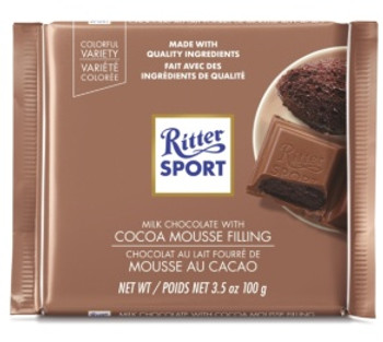 Ritter Sport Milk Chocolate Bar with Cocoa Mousse Filling | 100 g