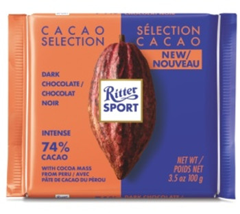 Ritter Sport Cacao Selection Dark Chocolate with Cocoa Mass from Peru - 74% | 100 g