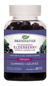 Nature's Way Sambucus Standardized Elderberry Original Cold & Flu Gummies    60 Gummies