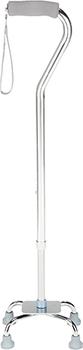 Option+ Telescopic Aluminium Quadripod Cane with Small Base