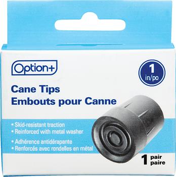 "Option+ Cane Tip - 1 Pair | 1"""