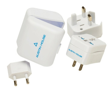 Austin House 3-in-1 Adapter Kit with Travel Case
