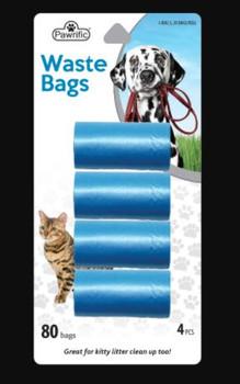 Pawrific Pet Waste Bags   2 x 20 Bags