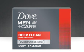 Dove Men+Care Deep Clean Purifying Grains Body + Face Bar | 3 x 106 g Soap Bars