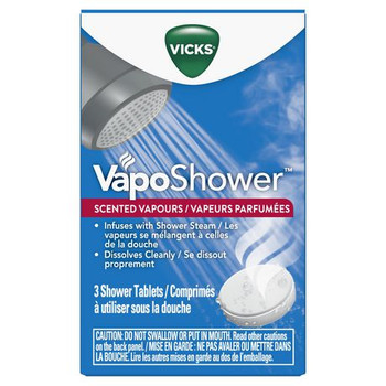 Vicks VapoShower Scented Vapour Shower Tablets | 3 Tablets