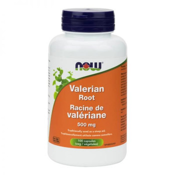 Now Valerian Root 500 mg | 100 Vegetable Capsules