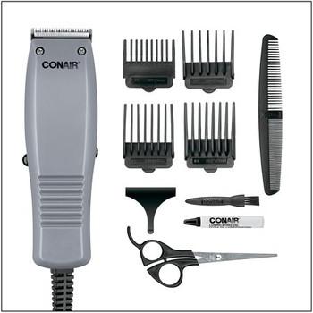 Conair for Men Simple Cut Corded Haircut Kit - Model: HC90AC | 10 Pieces