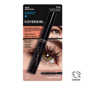 Covergirl Exhibitionist Uncensored Mascara - Waterproof - Extreme Black | 9 mL