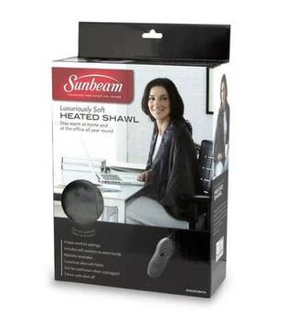 Sunbeam Luxury Soft Heated Shawl