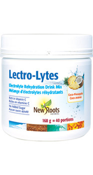 New Roots Lectro-Lytes Electrolyte Rehydration Drink Mix - Coco-Pineapple | 168 g = 40 Portions