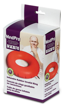"MedPro 18"" Inflatable Rubber Invalid Ring"