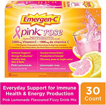 Emergen-C Vitamin C Pink Lemonade | 30 Sachets