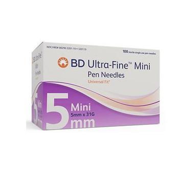 BD Ultra Fine Pen Needles 5mm x 31G   100 pieces