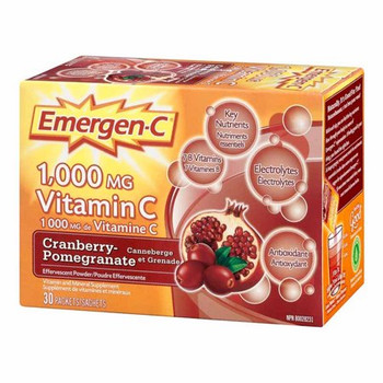 Emergen-C Vitamin C Cranberry Pomegranate | 30 Sachets