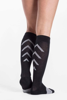 Sigvaris 401 Athletic Recovery Knee High Socks - Black | XX-LARGE