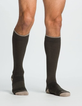 Sigvaris 421 Merino Outdoor Wool Knee High Socks - Olive | MEDIUM