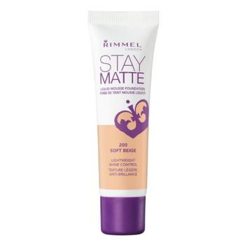 Rimmel Stay Matte Liquid Mousse Foundation - Soft Beige 200   30ml