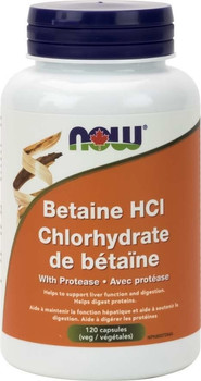 NOW Betaine HCl | 120 Caps