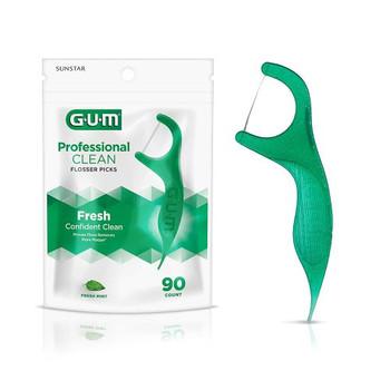 GUM Professional Clean Flossers - Mint | 90  counts