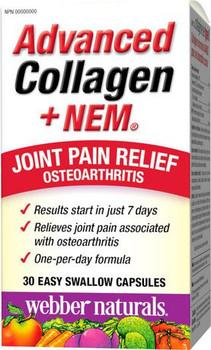 Webber Naturals Advanced Collagen + NEM - Joint Pain Relief | 30 Easy Swallow Capsules