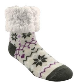 Piika Slipper Socks - Snowflake Grey