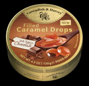 Cavendish & Harvey Filled Caramel Candy Drops with Belgian Chocolate | 130 g