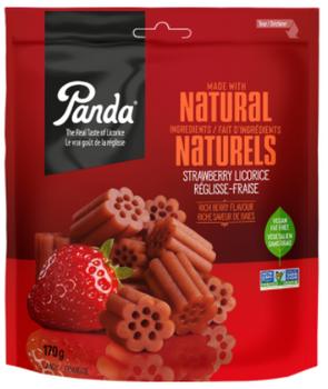 Panda Natural Strawberry Licorice - Vegan & Fat-Free | 170 g