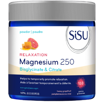Sisu Magnesium 250 Relaxation Blend - Honey Grapefruit Powder   133 g