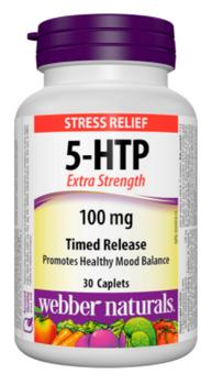 Webber Naturals Stress Relief 5-HTP Timed Release | 30 Caplets